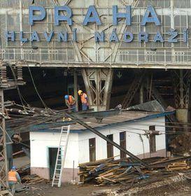 Bauarbeiten auf dem Prager Hauptbahnhof (Foto: ČTK)