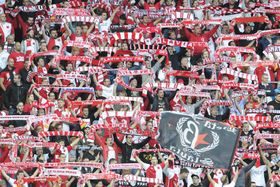 Hinchas de Slavia de Praga, foto: ČTK
