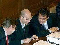 Zdenek Skromach, Bohuslav Sobotka et Jiri Paroubek, photo: CTK