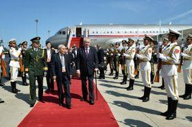 Miloš Zeman en China, foto: ČTK