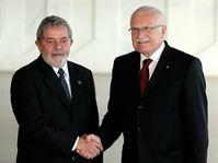 Luiz Inácio Lula da Silva y Václav Klaus, foto: ČTK