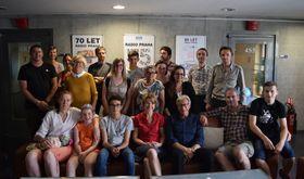 La délégation des Francas à Radio Prague, photo: Ondřej Tomšů