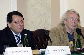 Jiri Paroubek et Svatopluk Karasek, photo: CTK