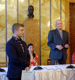 Šimon Pecák et Martin Daneš, photo: Site officiel de Cena Česká kniha