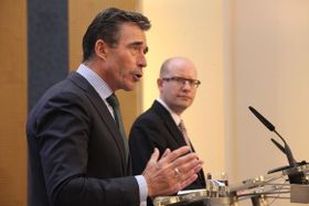 Anders Fogh Rasmussen, Czech PM Bohuslav Sobotka, photo: archive of Czech Government
