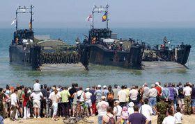 La flota en la playa de Asnelles, foto: CTK