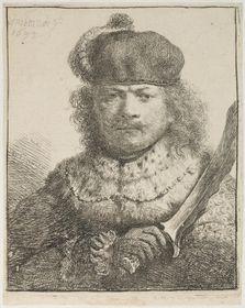 Rembrandt: Selbstbildnis mit dem Säbel