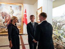 Andrej Babiš con su esposa, foto: Archivo del Gobierno Checo