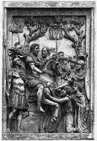 Mark Aurel begnadigt Markomannenhäuptlinge (Foto: Public Domain)