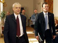 Vladimír Špidla (vlevo) na zasedání středočeských sociálních demokratů, foto: ČTK