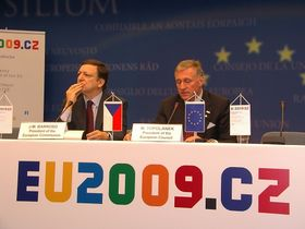 Mirek Topolánek y Jose Manuel Barroso (Foto: Ch.Rühmkorf)