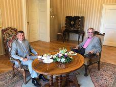 Miloš Zeman y Andrej Babiš, foto:  Jiří Ovčáček/Twitter