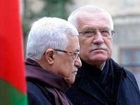 Mahmud Abbas y Václav Klaus (Foto: CTK)