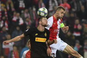 Slavia Praha prohrála vEdenu sInterem Milán, foto: ČTK / Vít Šimánek
