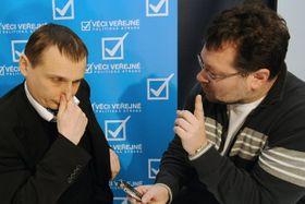 Вит Барта с журналистом Ярославом Кментой (Фото: ЧТК)