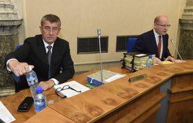 Андрей Бабиш и Богуслав Соботка, Фото: ЧТК