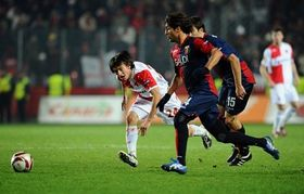Slavia Prague - FC Genoa, photo: CTK