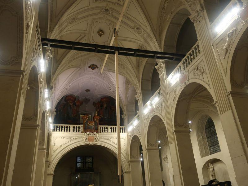 Pendel in der Salvatorkirche (Foto: Martina Schneibergová)