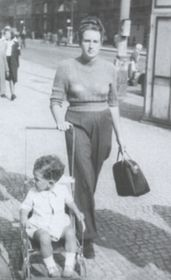 Ivy Kovandová with her son Karel