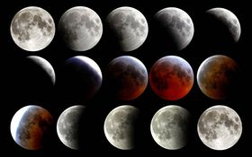 Fáze zatmění Měsíce, foto: skeeze, Pixabay / CC0