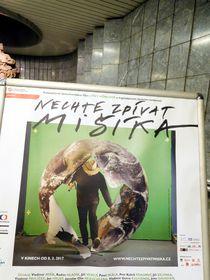 El póster ¡Dejen cantar a Mišík!, foto: Loreta Vašková