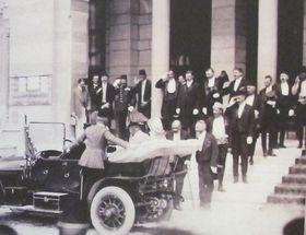 Archduke Franz Ferdinand and Sophie Chotek before the assassination