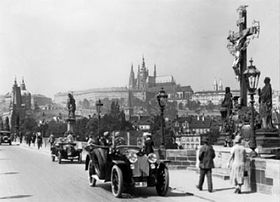 Charles Bridge during the World War II