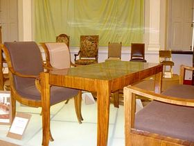 Table and chairs designed by Josip Plecnik in the 1920s, photo: Linda Mastalir