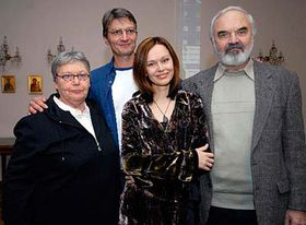 From left: Jan and Zdenek Sverak, actresses Lilian Malkin and Irina Bezrukov, photo: CTK