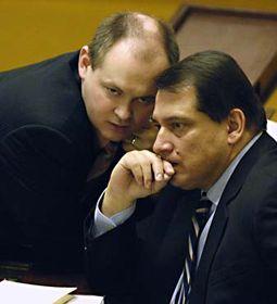 Jiří Paroubek aMichal Hašek (vlevo), foto: ČTK