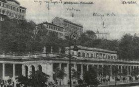 Карловы Вары и отель König von England, в котором отсанавливался Тургенев, фото: открытый источник
