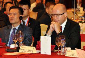 Богуслав Соботка на шанхайском экономическом форуме, Фото: ЧТК