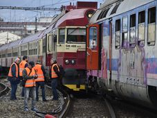 Collision at Brno's main railway station, photo: ČTK/Václav Šálek