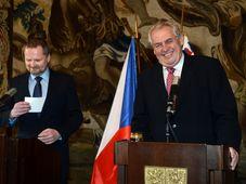 Education Minister Petr Fiala, Miloš Zeman, photo: CTK