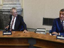 Miloš Zeman a Andrej Babiš, foto: ČTK / Michal Krumpanzl