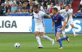 Milan Baroš (à gauche), Baník Ostrava - Slavia Prague, photo: ČTK