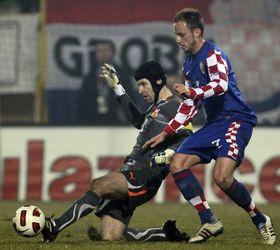 Malheureusement Petr n'était plus dans le but, photo: CTK