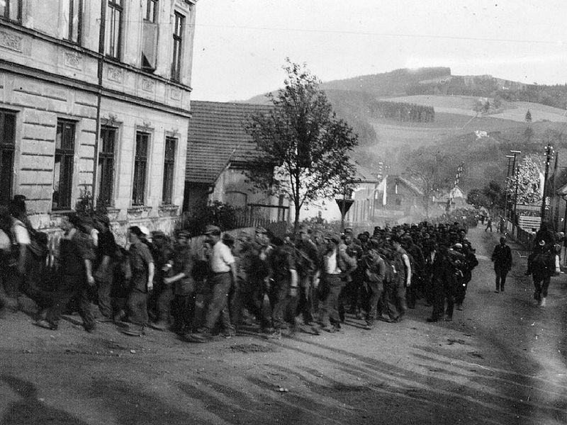 Немецкие военнопленные в Чехии, Беловес,  foto: Archiv Václava Vlka st.
