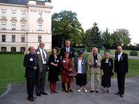 Mirek Topolánek with nine honoured dissidents, photo: Martina Stejskalová