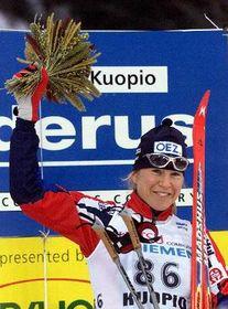 Skier Katerina Neumannova, photo CTK