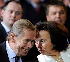 Václav Havel and Livia Klausová, photo: CTK