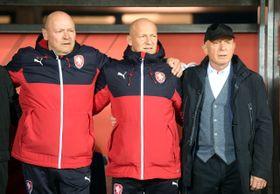De izquierda: Miroslav Koubek, Boris Kočí y Karel Jarolím, foto: ČTK