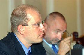 Bohuslav Sobotka y Petr Mares, foto: CTK