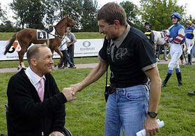 Peter Gehm and jockey Josef Vana, photo: CTK