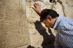 Jan Fischer at the Western Wall, photo: CTK