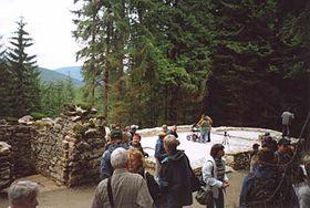 Fundamente der Hauswaldkapelle