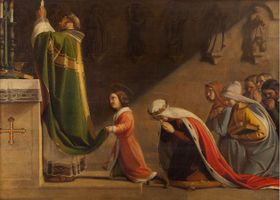 св. Вацлав и св. Людмила на богослужении, автор: Ф. Ткадлик, из собрания Национальной галереи