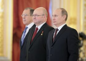Сергей Лавров, Владимир Ремек и Владимир Путин (Фото: ЧТК)