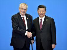 Miloš Zeman a Si Ťin-pching, foto: ČTK