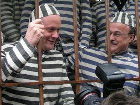 Canciller checo, Cyril Svoboda en la 'celda' (Foto: autor)